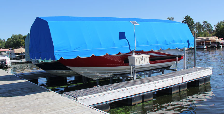 Dock Shelters Boat Canopies : Canopies balsam store rock solid lift dock shop