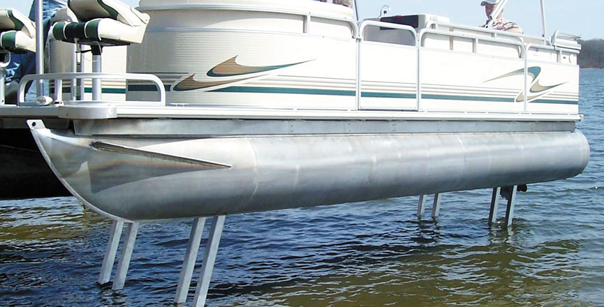 Electric pontoon legs balsam store rock solid lift for Electric boat lift motor